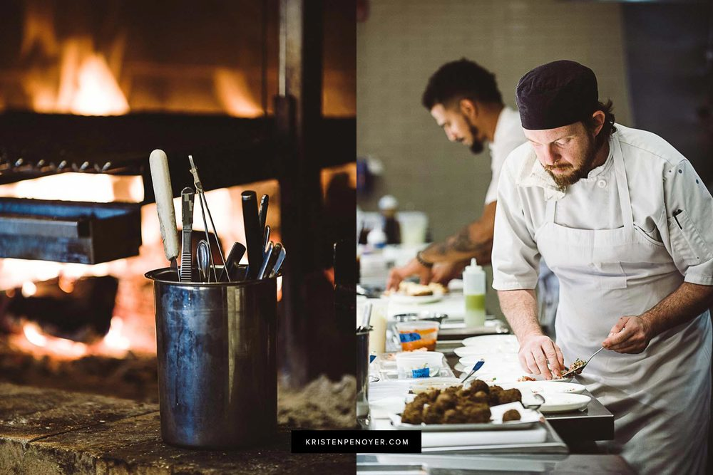 Chefs working in a restaurant in Northeast Florida.