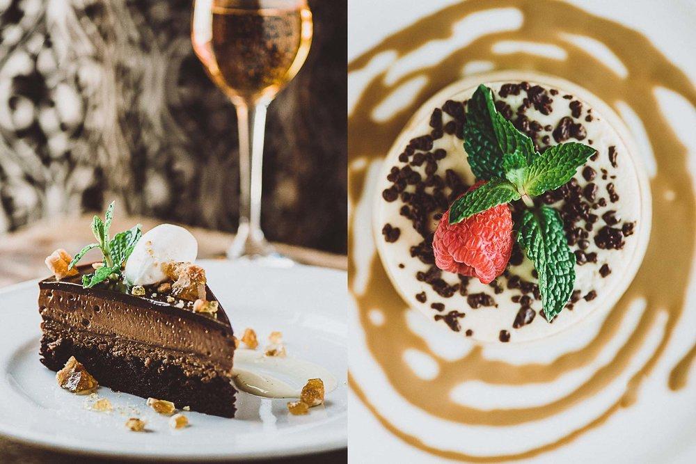 Dessert photography at Bistro AIX restaurant in Jacksonville, Florida.