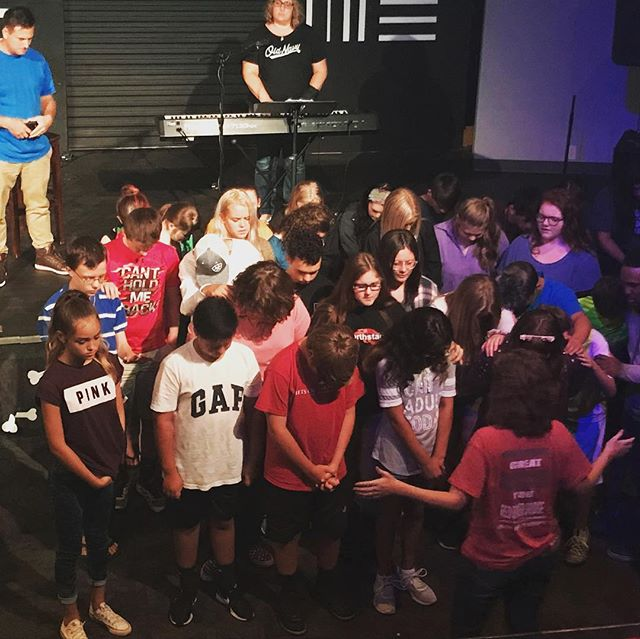 We had an awesome time at Velocity last night praying over our students. Continue to keep them in your prayers as they start school next week! #velocity