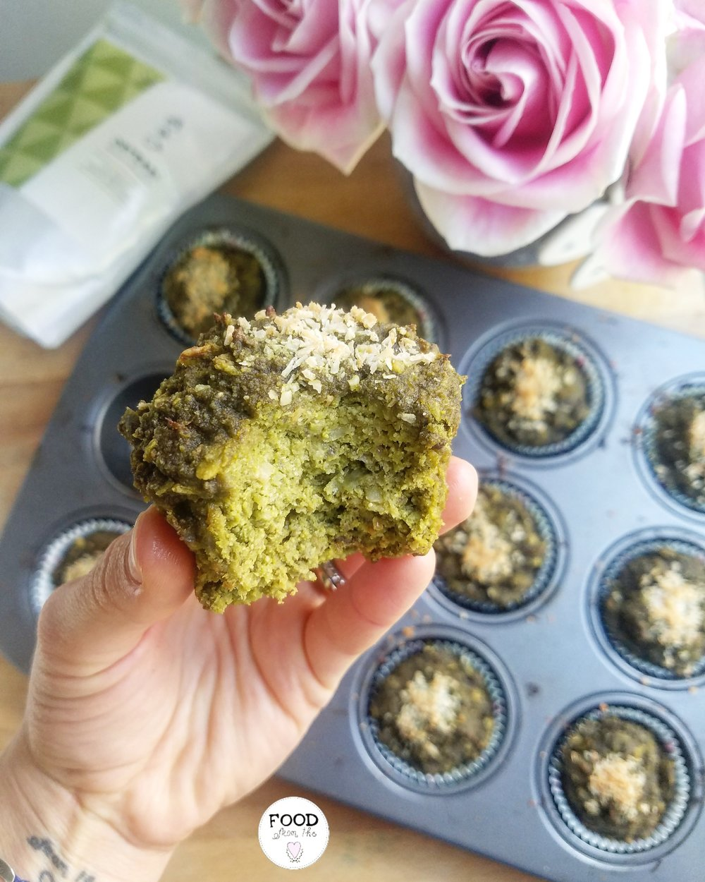Matcha Coconut Vegan Muffins Food From The Heart