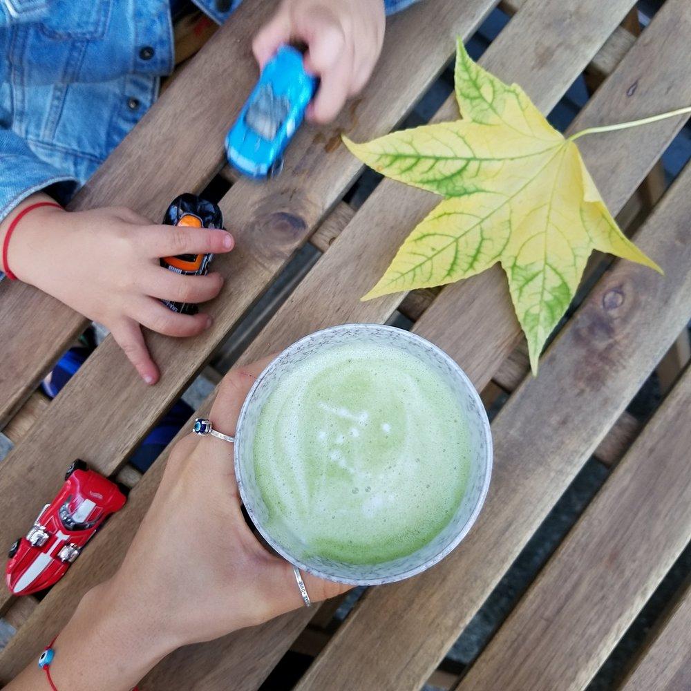 Yummy matcha at Juice box Seattle