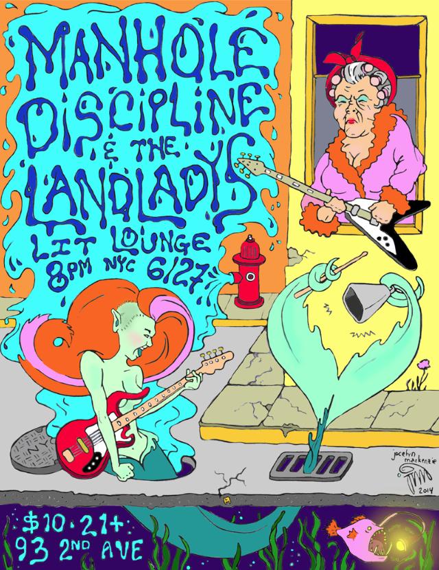 Manhole Discipline // Show Poster   Art Consultation // Illustration