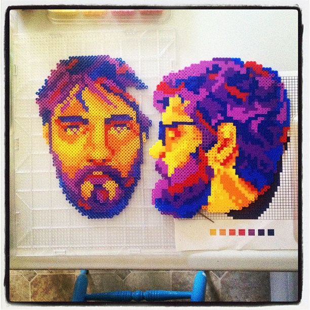 My brother! Is almost born!  #perlerbeads #perlerbeadart #perler #diy #dc #band #fellowcreatures #synstyling #crafts #ilikethingsincolororder #portrait #fineart #WIP #profile #indie #style