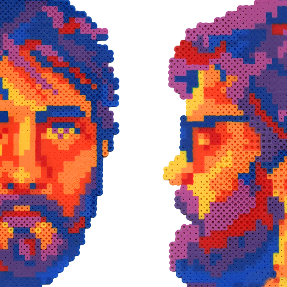 Fellow Creatures // Web Icon   Art Direction // Perler Bead Portraits // Digital Design and Layout