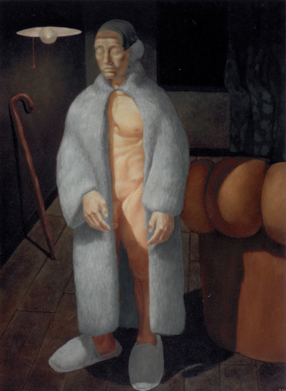 A Man in a Room with a Cane