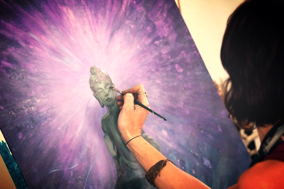 Live Painting by Krystleyez at Rainbow Serpent Festival, Melbourne, Australia, 2013
