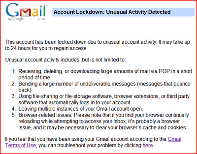 GMail-Lockout