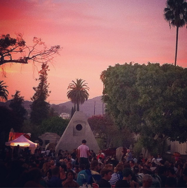 """Pretty in Pink"" night at the Hollywood Forever Cemetery."