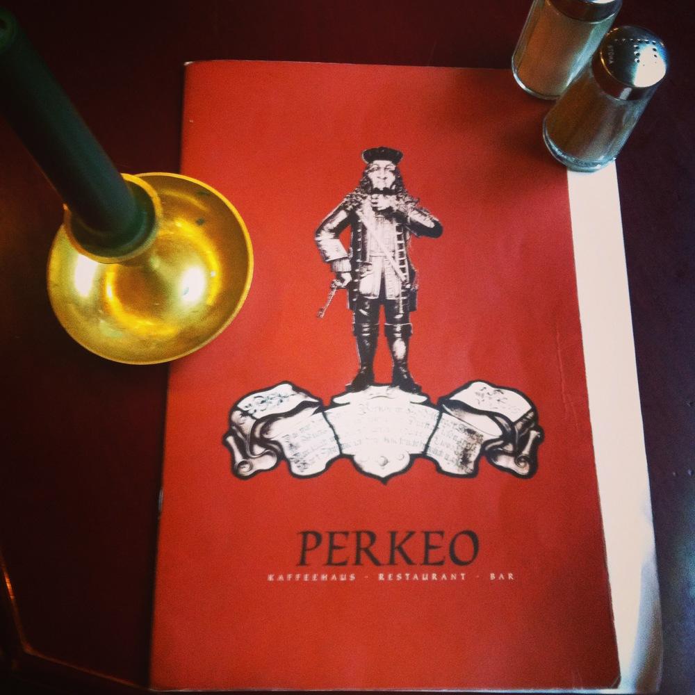 Perkeo at his namesake restaurant.