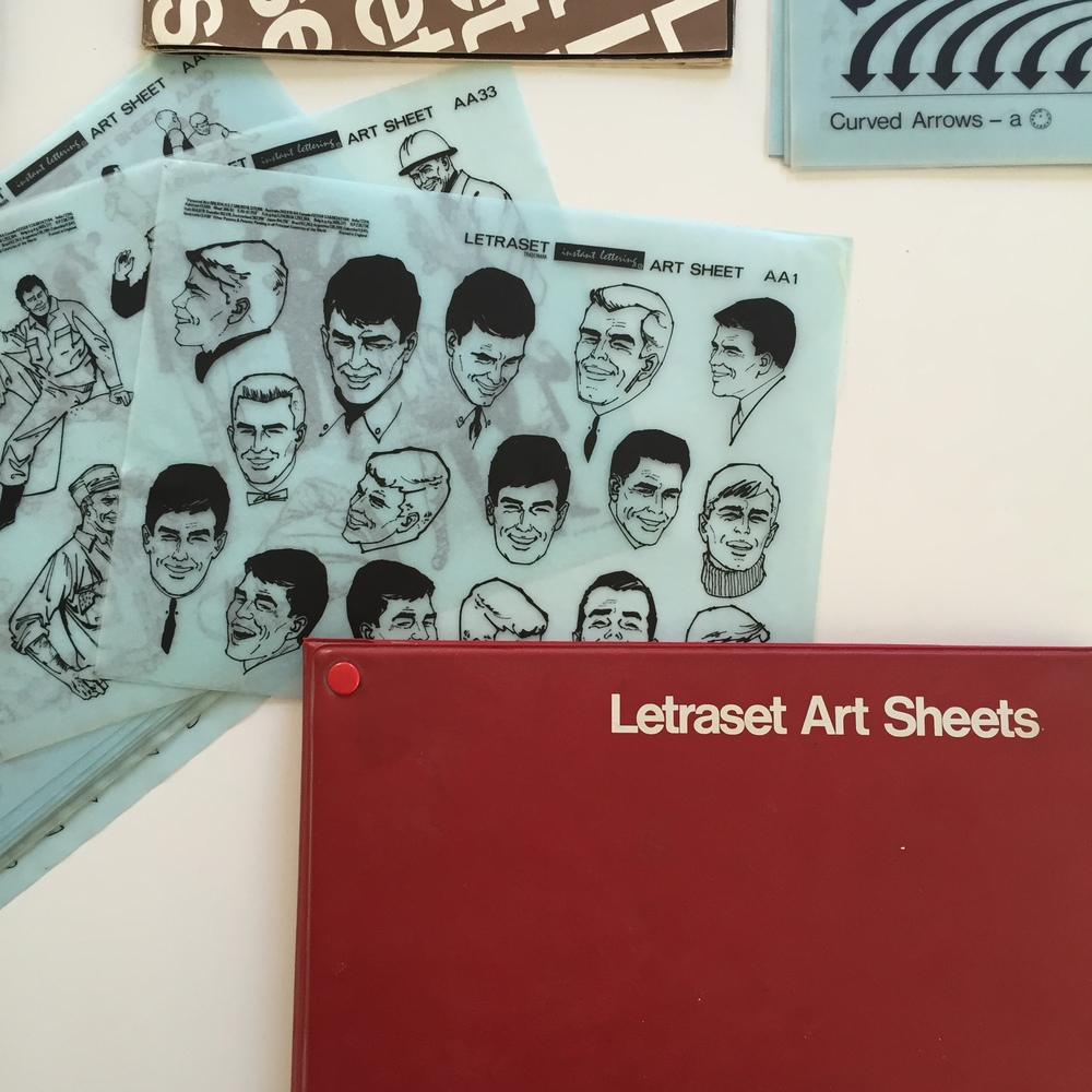Letraset Art Sheets courtesy of Dan Rhatigan's personal collection.