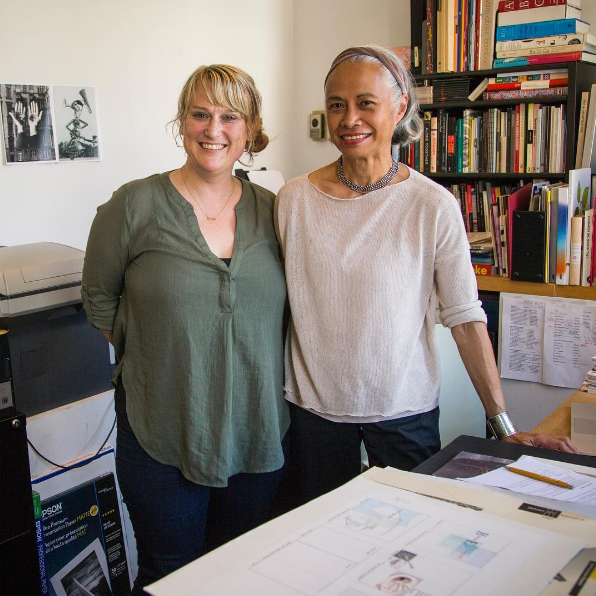 Director Briar Levit, with designer and educator, Lucille Tenazas.