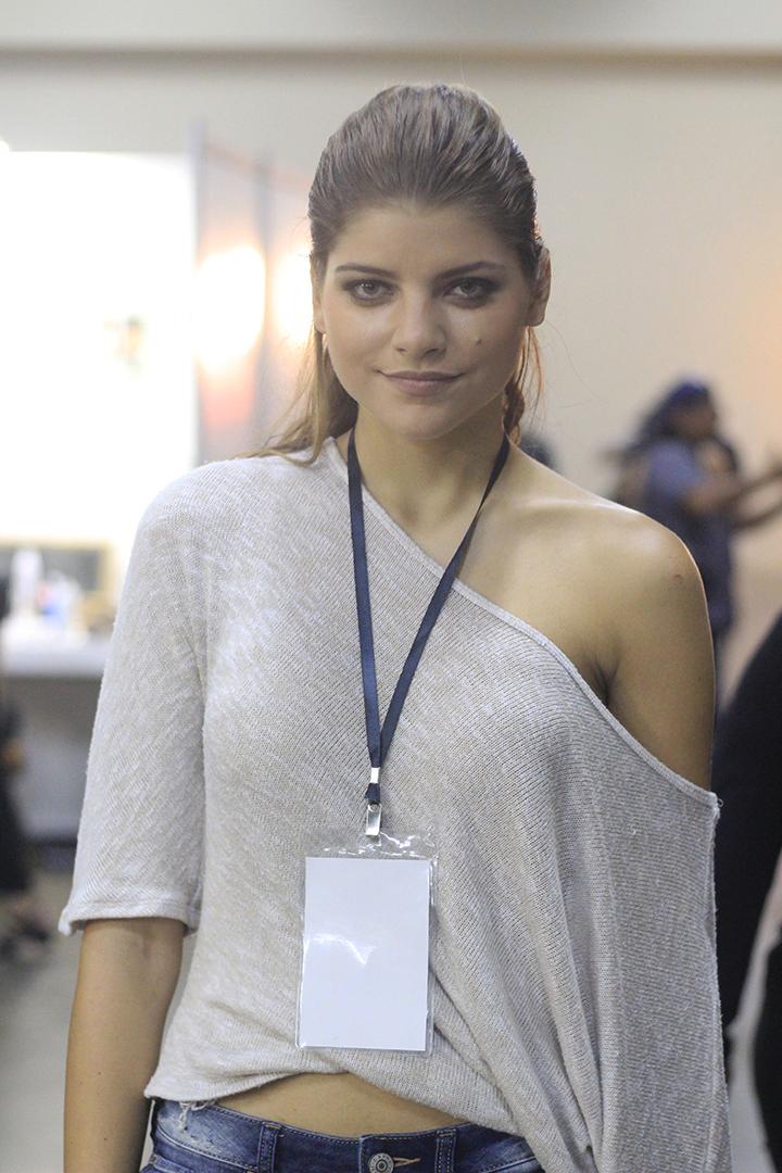 Amanda Díaz, presentadora de televisión y modelo.