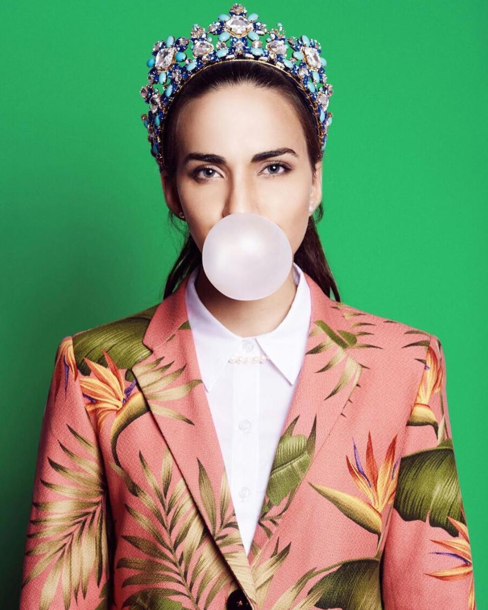 Alessandra no es la típica miss de trajes de lentejuelas y pedreria. Foto tomada de su Instagram.  Créditos :  @jorgearphoto