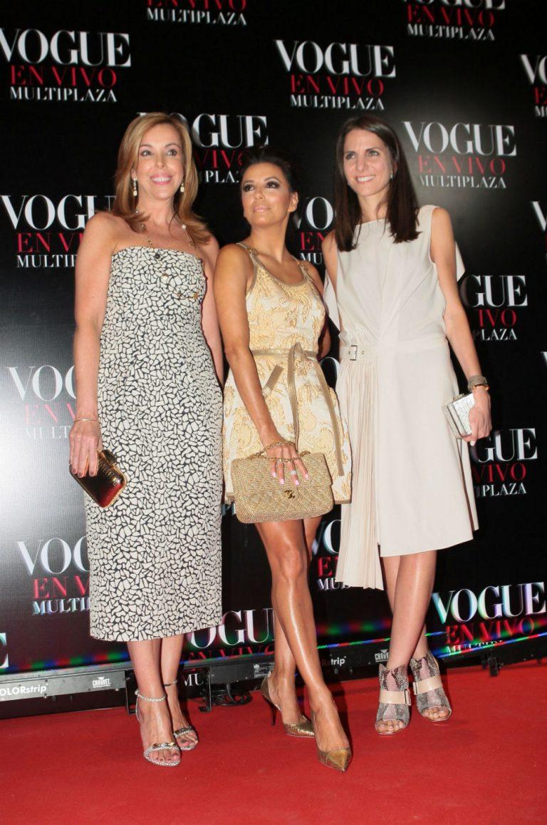 Eva Hughes, Eva Longoria y Kelly Talamas durante Vogue en Vivo en Panamá. Foto: Archivo La Prensa