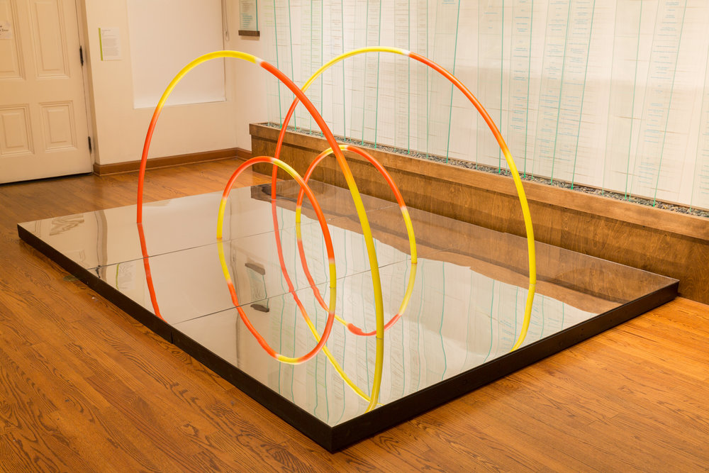 La obra 'Puentes', de Cisco Merel, en la exhibición del Chinese American Museum en Los Ángeles. Foto/Ian Byers-Gamber para el Chinese American Museum