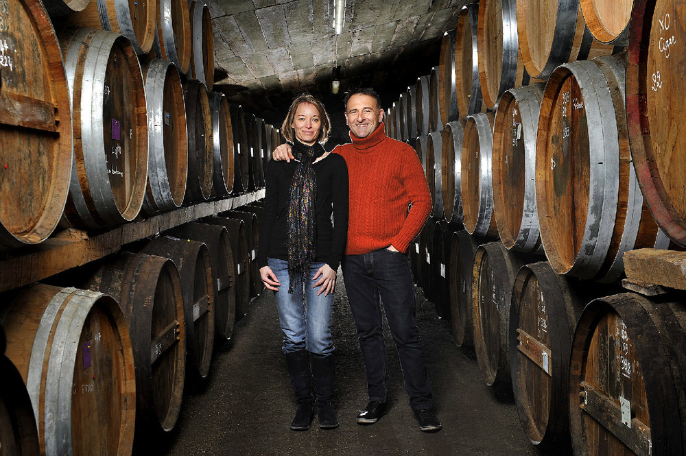 Patrick and Corinne Drouet in the Barrel Room