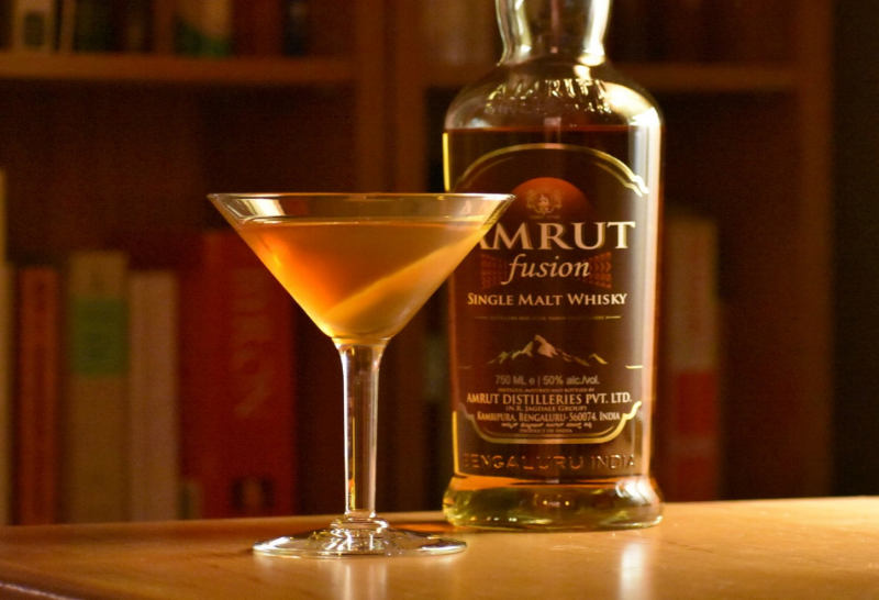 Matt Maslin, Boston BarHopper, uses Amrut fusion to make his version of Bobby Burns