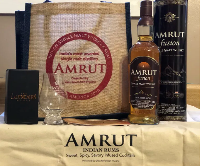Amrut at Chicago Whisky Extravaganza. Photo by Brittany Lambright