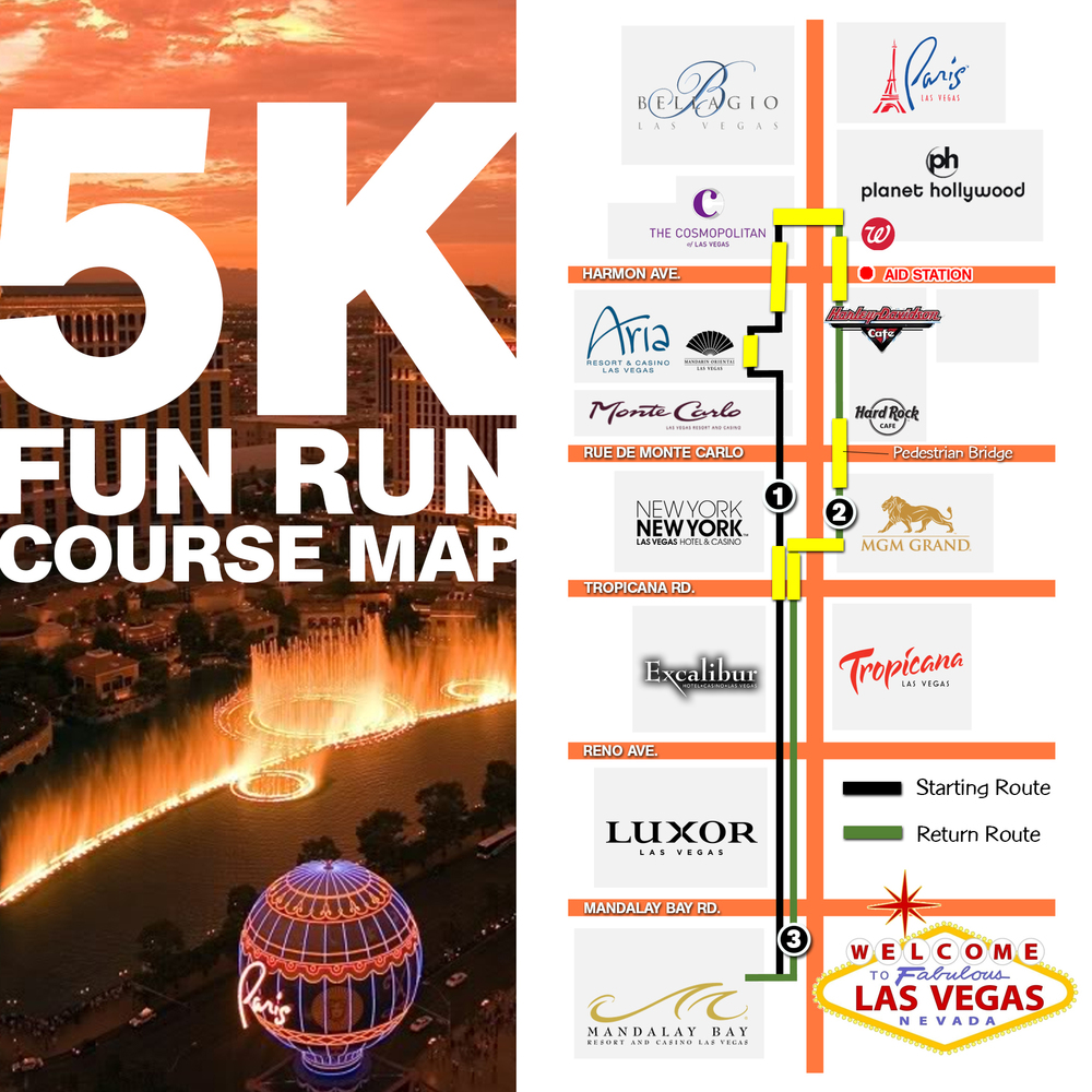 5K Map - Las Vegas Strip