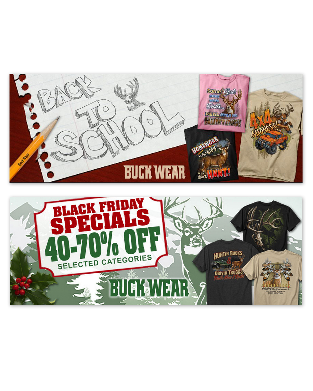 BuckWear Web Banners (2012)