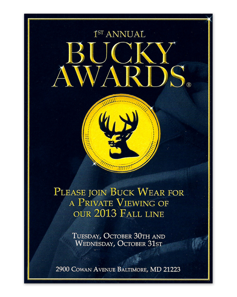 Bucky Awards Mailer       Invite (2012)