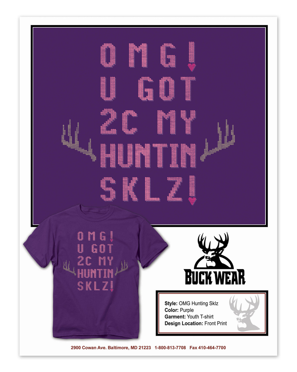 BuckWear Huntin Sklz     Shirt   Design