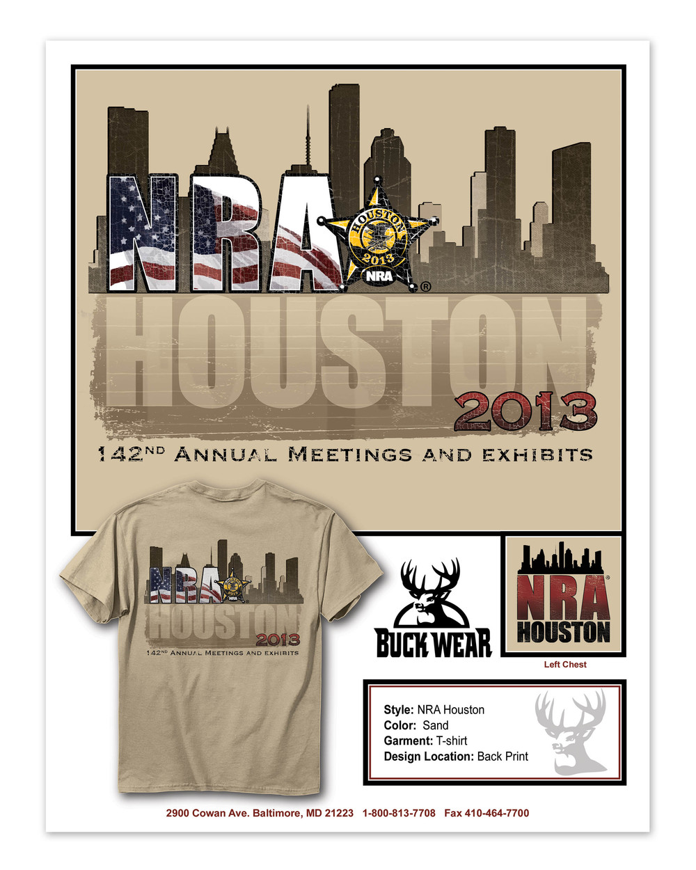 BuckWear 2013 142nd    Annual NRA Meeting and       Exhibit Shirt Design