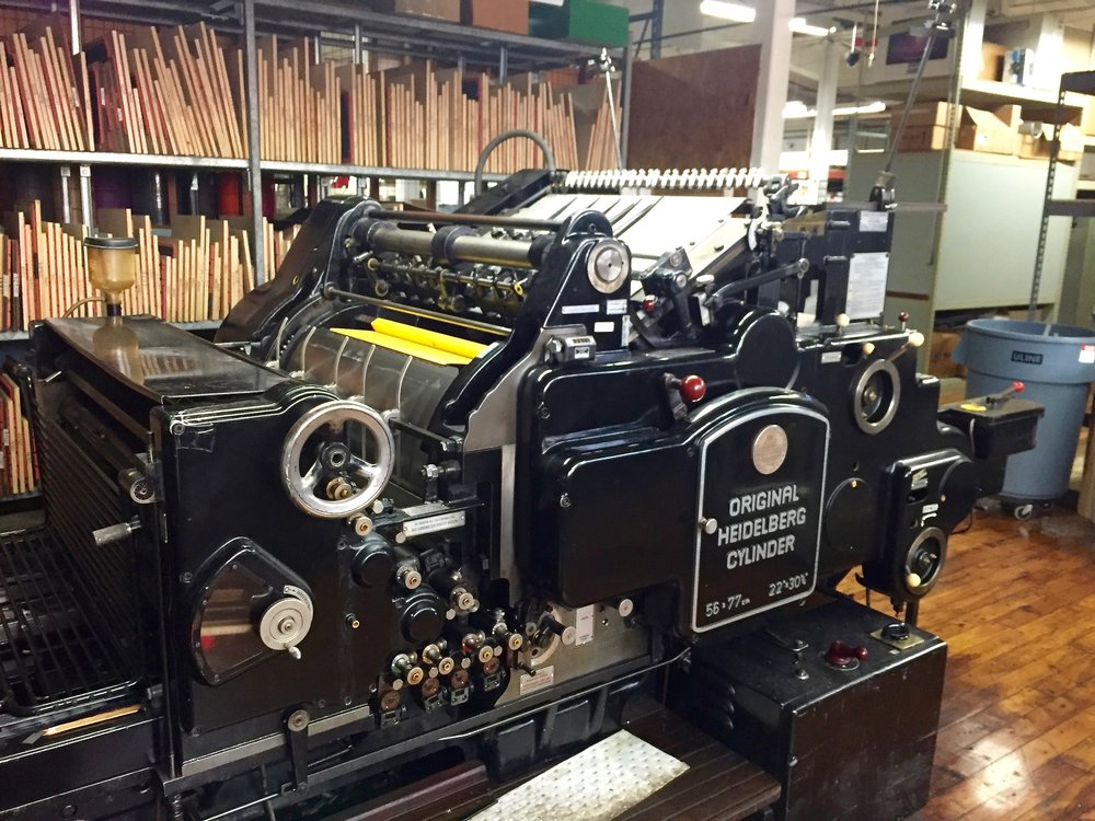 I was so grateful to be able to tour Taylor Box Co. This is one of the machines that will be used in making my baby keepsake boxes.