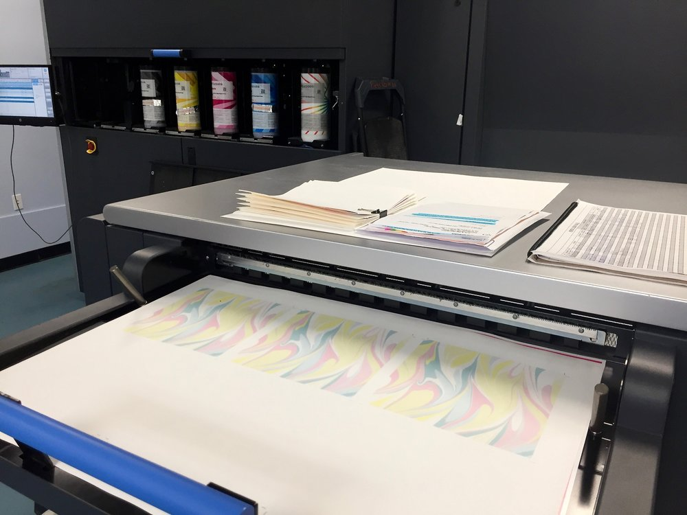 Next I traveled to Superior Bindery in Braintree, MA where the pages for the book are ready to be printed on this Indigo.