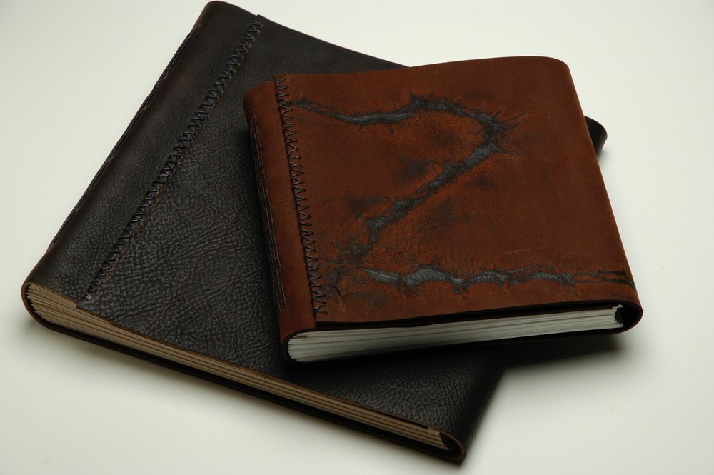Leather sketch books - longstitch binding