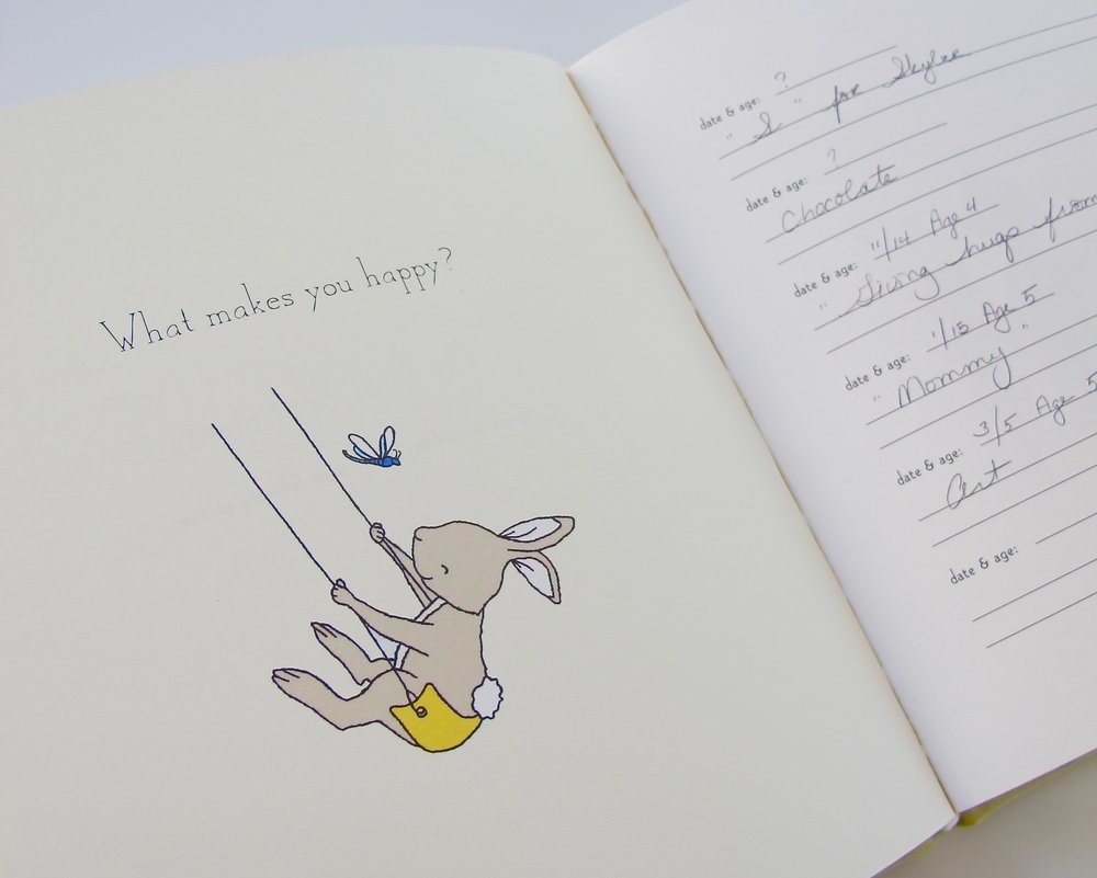 """What make you happy?"" - page in the Baby Memory Book"
