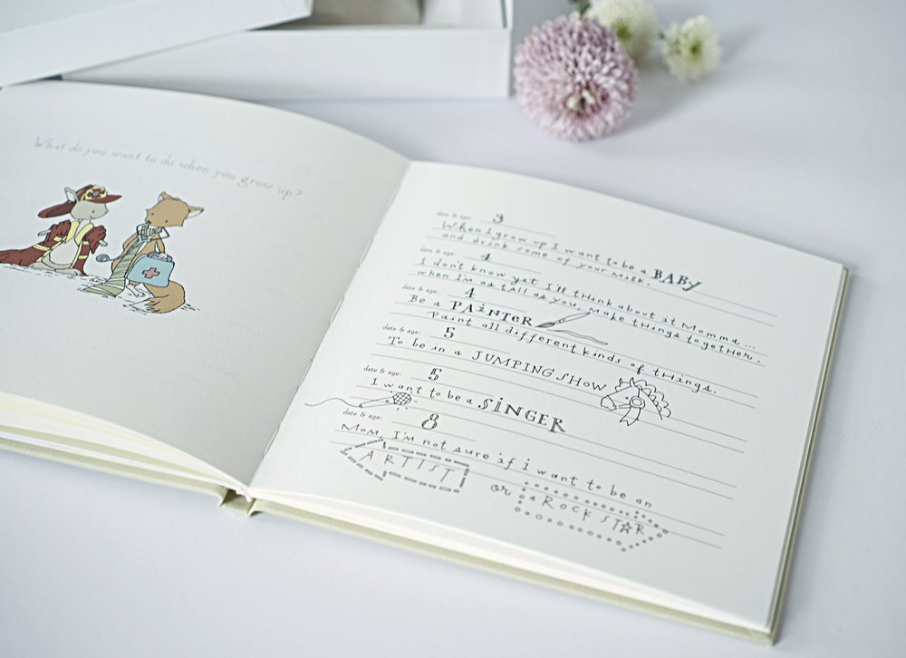 Modern Baby Memory Book for Firsts