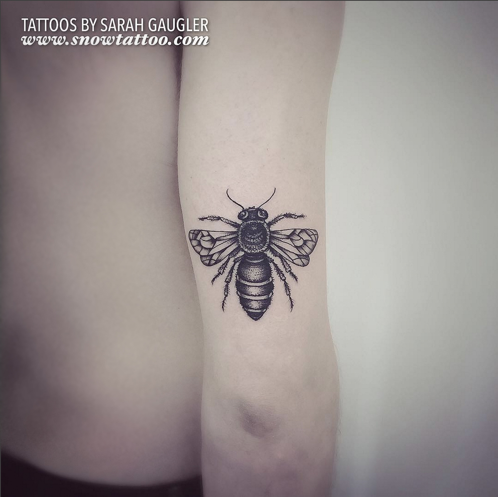 Cusotm+Bee+Beetattoo+bumblebee+Tattoo+Line+Art+Original+Flash+Tattoo+by+Sarah+Gaugler+at+Snow+Tattoo+New+York+NYC.jpg