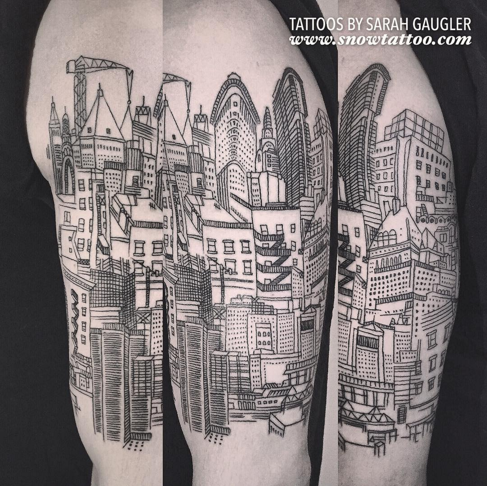 Snow tattoo tattoos by sarah gaugler for Square city tattoo