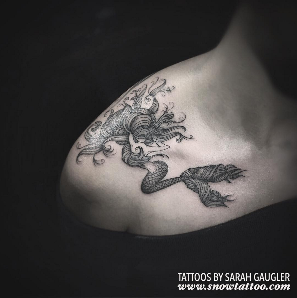 Sarah Gaugler Snow Tattoo Custom Floral and Script New York Best Tattoos Best Tattoo Artist NYC SarahgauglerMermaid.png