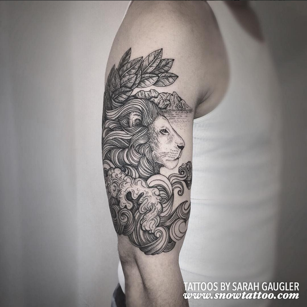 Sarah Gaugler Snow Tattoo Custom Lion Leo Sleeve New York Best Tattoos Best Tattoo Artist NYC.png