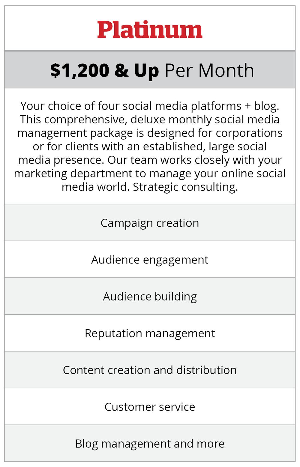 BEV- Platium Social Management