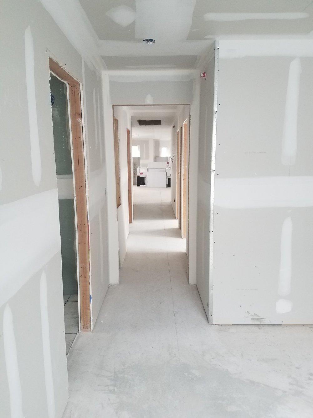 Master Bedroom and Hallway Drywall