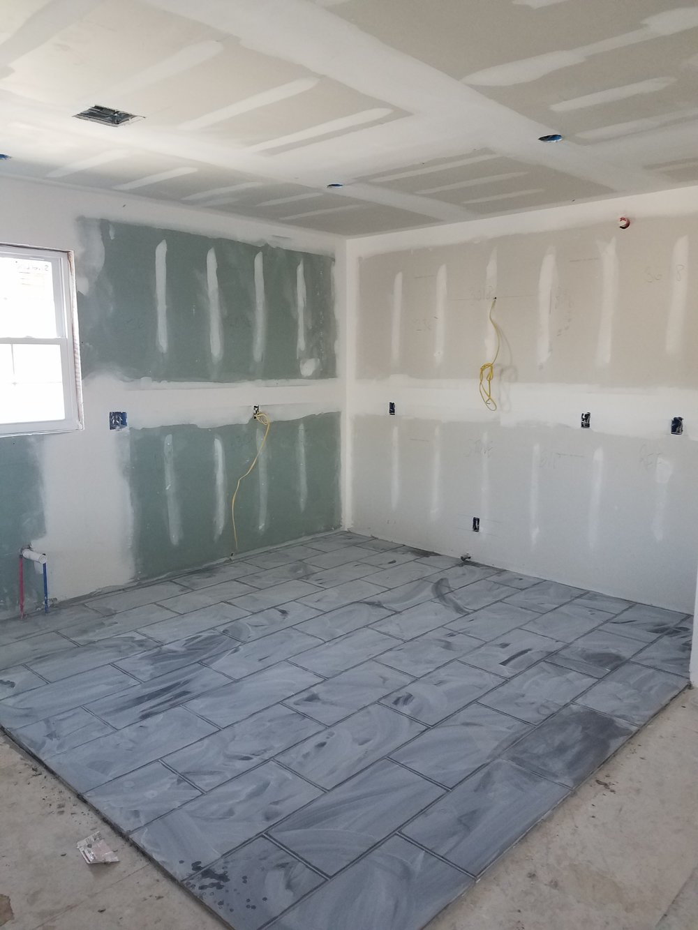 Kitchen Tile Grouted