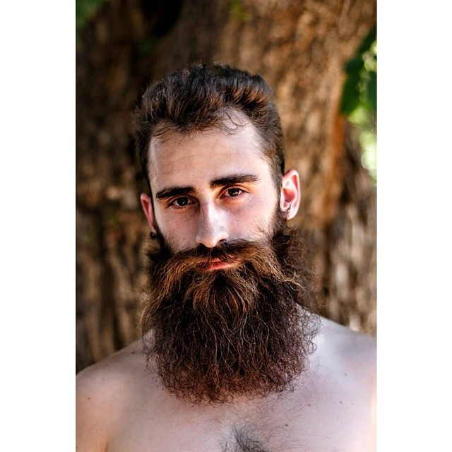 #menwithbeards #beards #portrait #nature #tree #naturallight #photography #shariyantraphotography     Photo by Shari Yantra Marcacci 2014