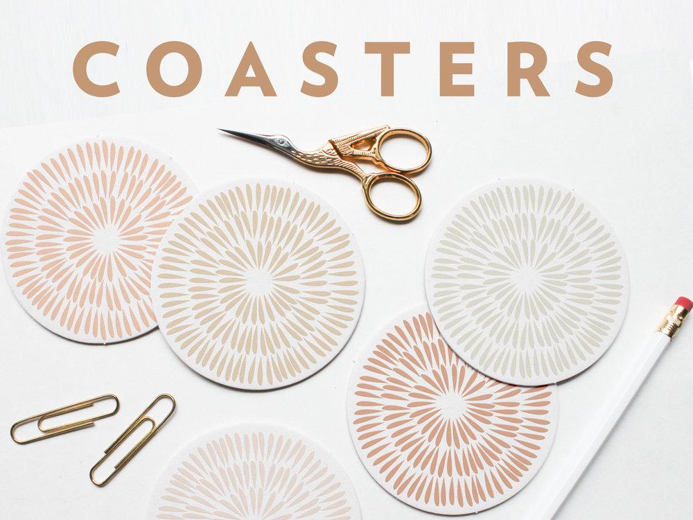 Letterpress Coasters