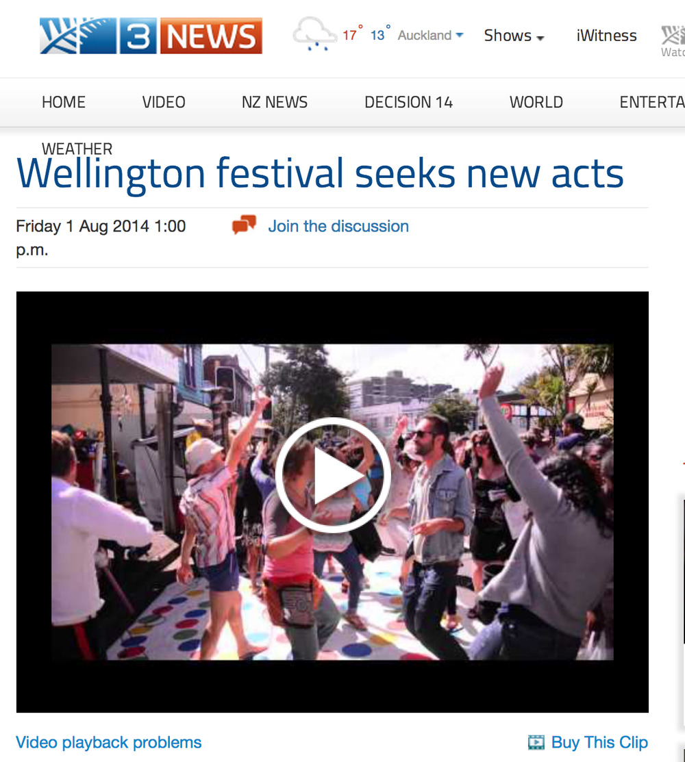 3 News covers Newtown Festival (video by Sophi Reinholt - The Renegade Peach Project)