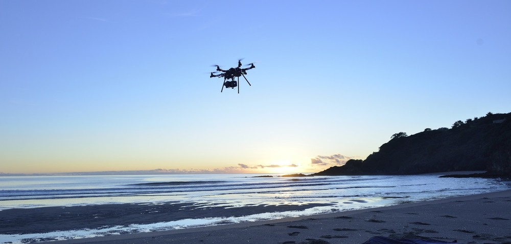 Great Barrier Island.  One of the  Aerial Vision  drones (built by Glenn McLelland) Photo: Sophi Reinholt