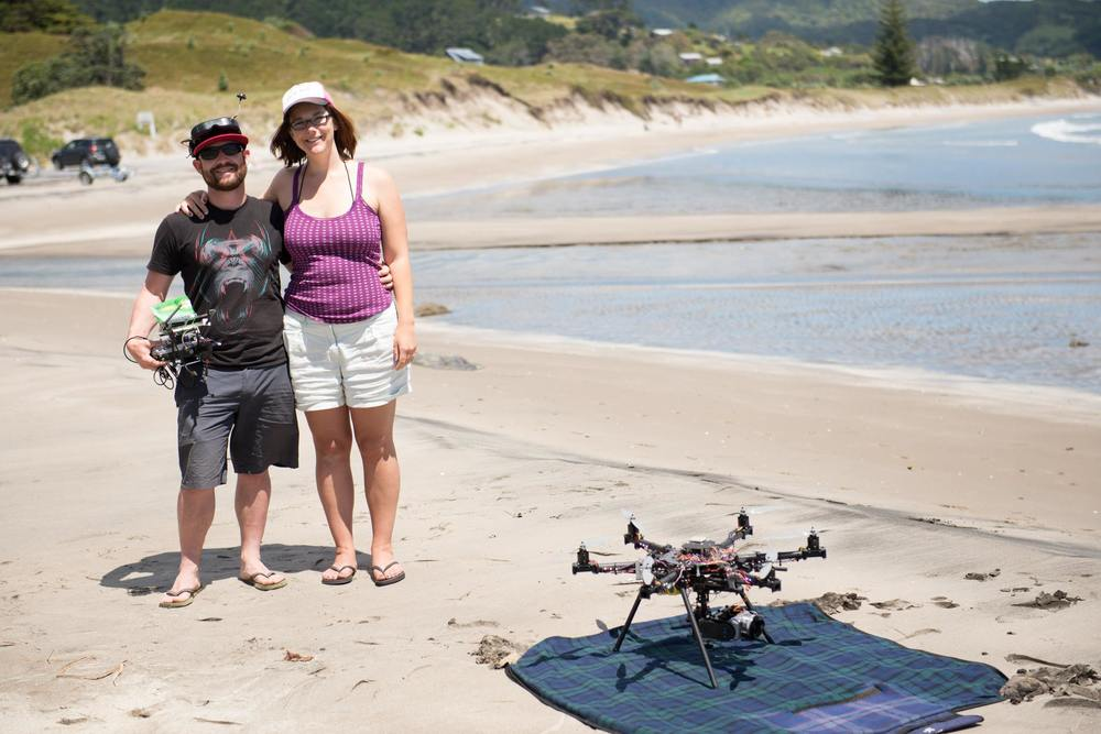 Glenn + Deb - the talented + inspiring team at  Aerial Vision . Photo: Sophi Reinholt