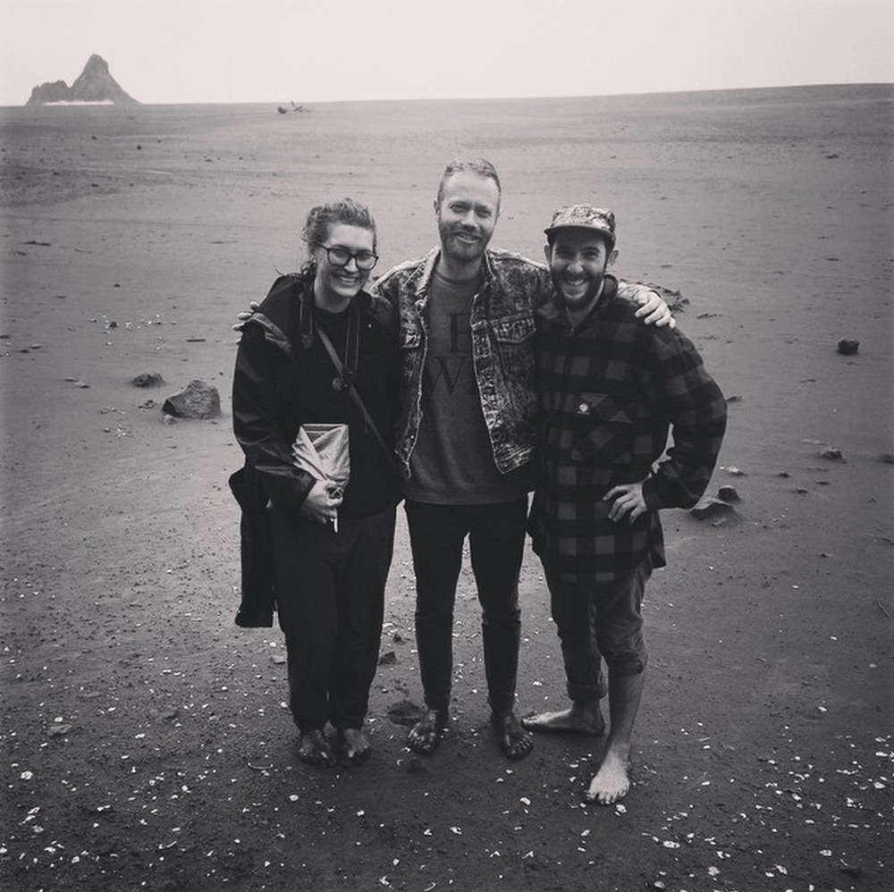 Sophi, Mara + Mark on location, West Coast, Auckland.