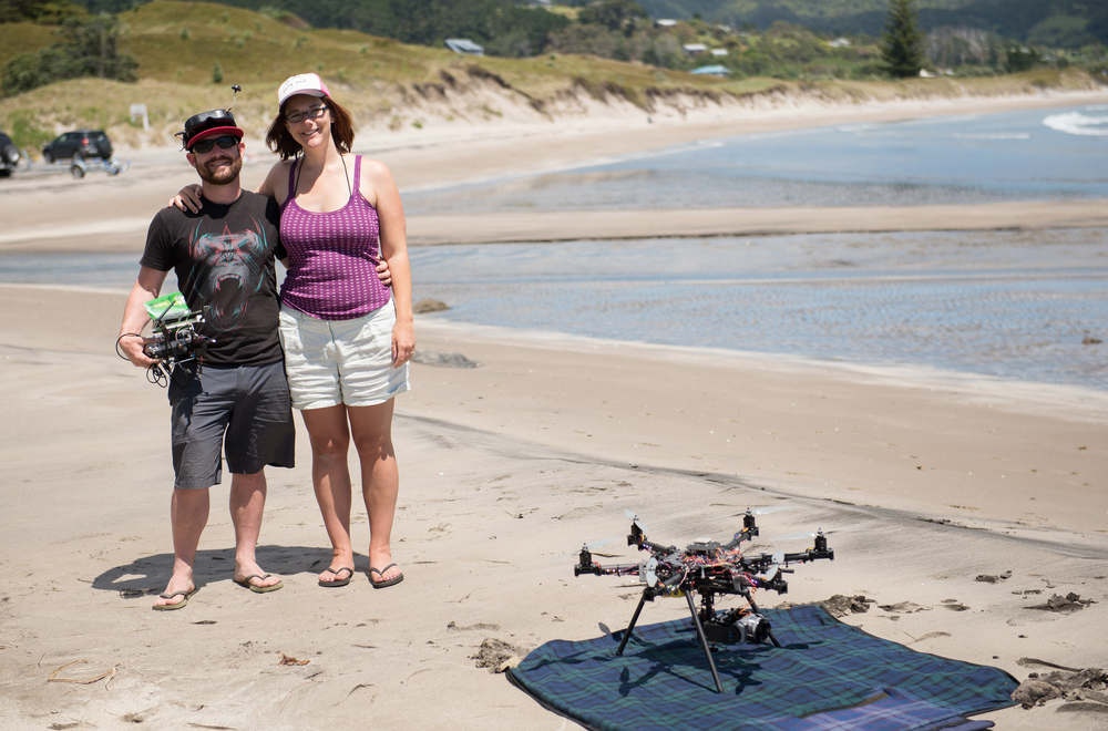 The dream team, Glenn + Debs from Aerial Vision.