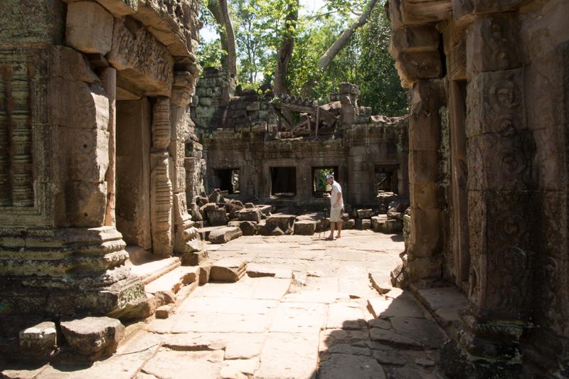 Mark filming,Angkor temple,Siem Reap