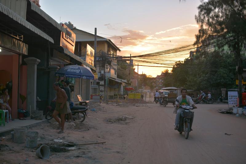 The beginning of the sun set, Siem Reap
