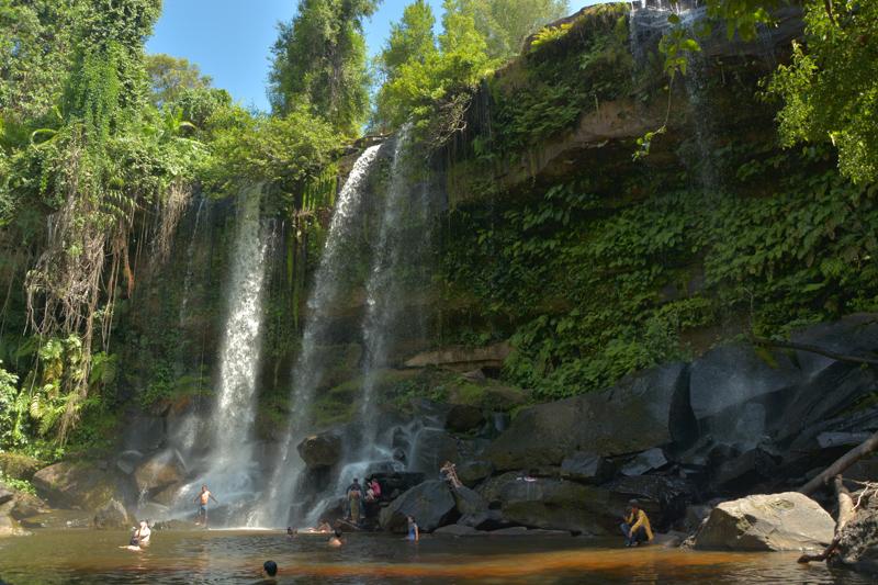 The waterfalls, Kbal Spean