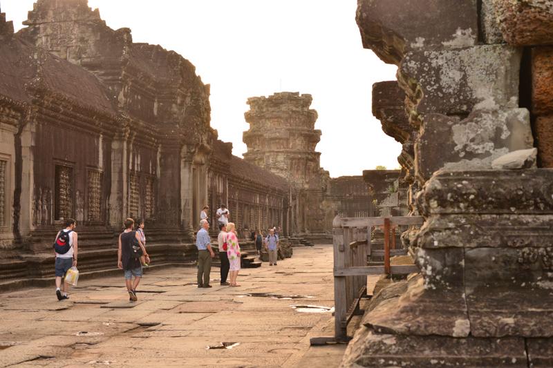 Visitors at Angkor Wat, Siem Reap